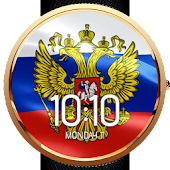 Animated Russia Flag WatchFace