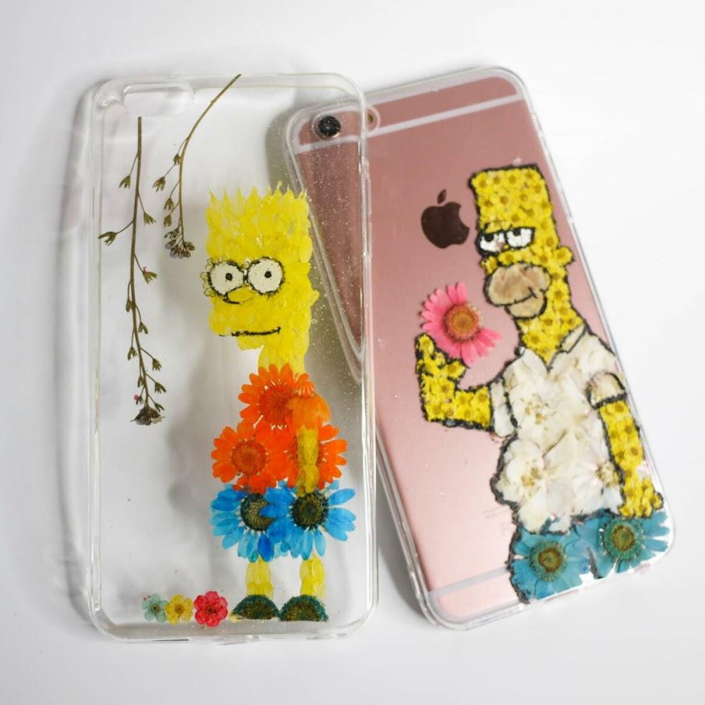 [訂製/custom-made] Homer Pressed Flower Phone Case