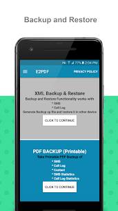 E2PDF – Backup Restore SMS,Call,Contact,TrueCaller Download 1