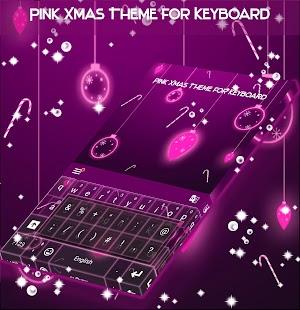 Pink Xmas téma pro Keyboard - náhled