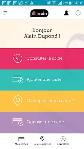 Carte illicado Android App Screenshot