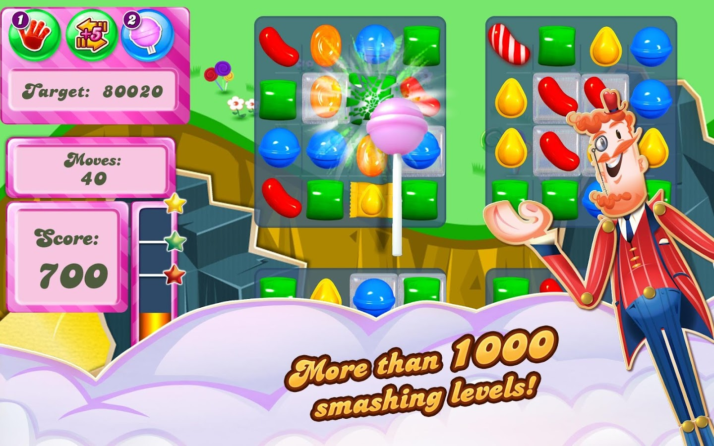 Candy Crush Saga – snimka zaslona