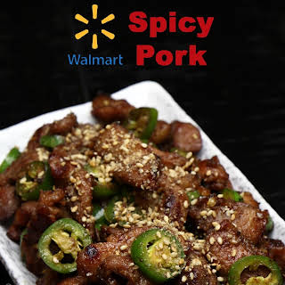 Walmart Asian Spicy Pork.
