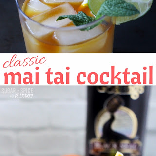 Mai Tai Cocktail with Homemade Almond Syrup.