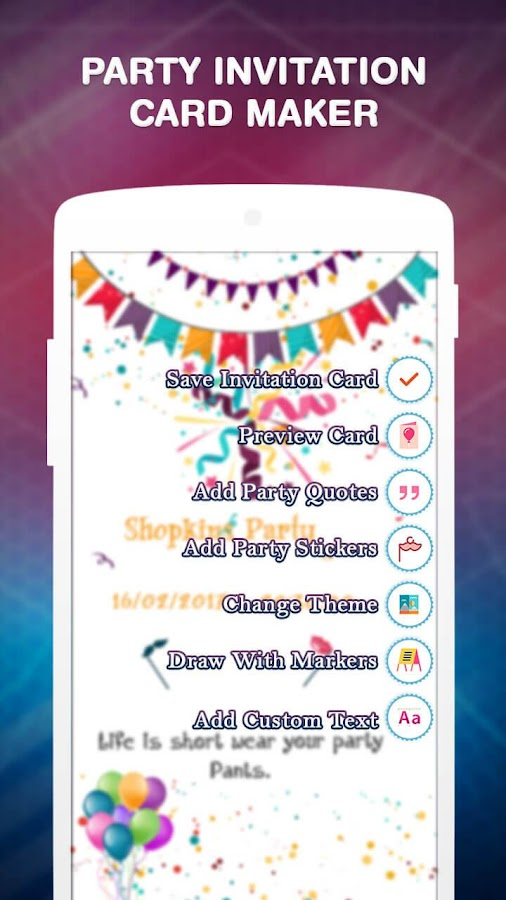 Party invitation card maker android apps on google play party invitation card maker screenshot stopboris Images