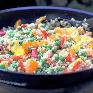 Rainbow Quinoa with Orange Vinaigrette.