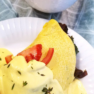Savory Garbanzo Fava Crepes with Vegan Hollandaise Sauce Recipe