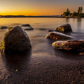 Sunset at Georgian Bay by CK Lam - Landscapes Waterscapes ( canada, ontario, owen sound )