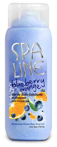 exfoliante spa line blueberry orange 250ml