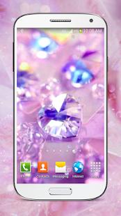 Lesklé Diamanty Živé Tapety HD - náhled