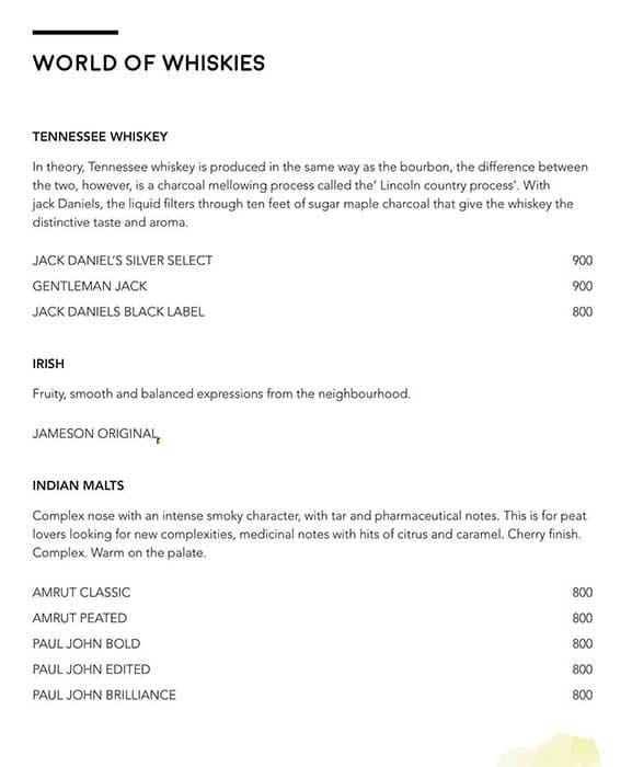 Luna Nudo menu 23