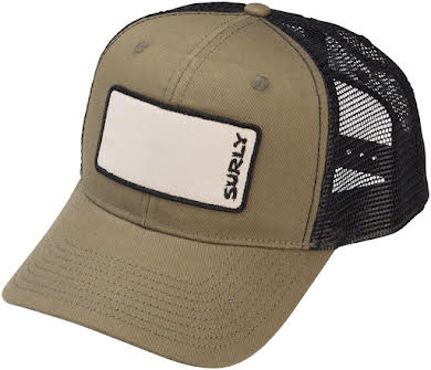 Surly Name Patch Trucker Hat: Olive Green, One Size alternate image 2