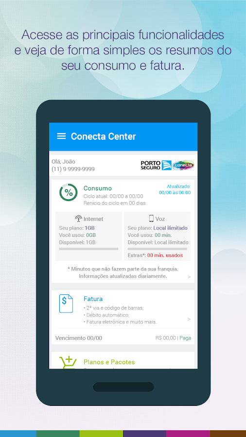 Conecta Center: captura de tela