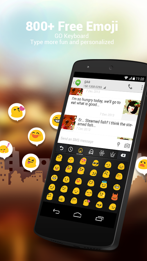 GO Keyboard Lite + Emoji- screenshot