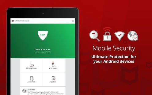 Mobile Security: Antivirus, Wi-Fi VPN & Anti-Theft Screenshot