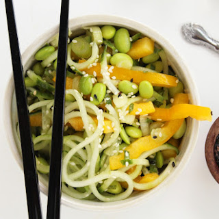 Sesame-Ginger Cucumber Noodles with Mint and Edamame [Vegan] Recipe