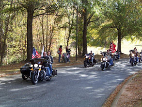 Photo: The First Bikes Carry The Flags