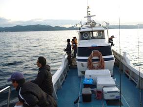 Photo: 五島方面は、波が高く 本日「近海ジギング」変更です。