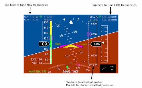 X-Plane Primary Flight Display - náhled