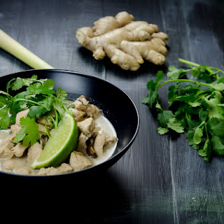 Tom Kha Gai (Thai-Style Chicken and Coconut Soup with Lemongrass).