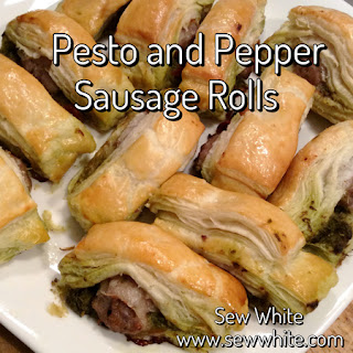Pesto and Red Pepper Sausage Rolls.