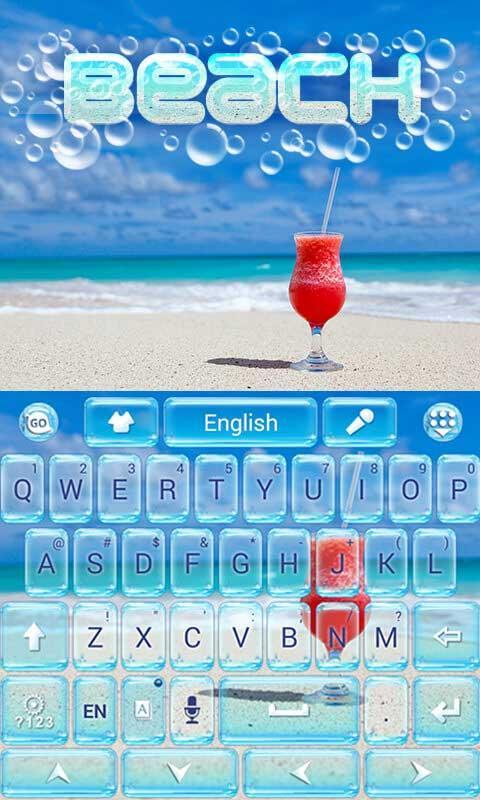 Beach-GO-Keyboard-Theme 8