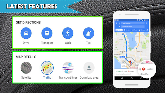 GPS Route Finder Live Map Voice Navigation planner Screenshot