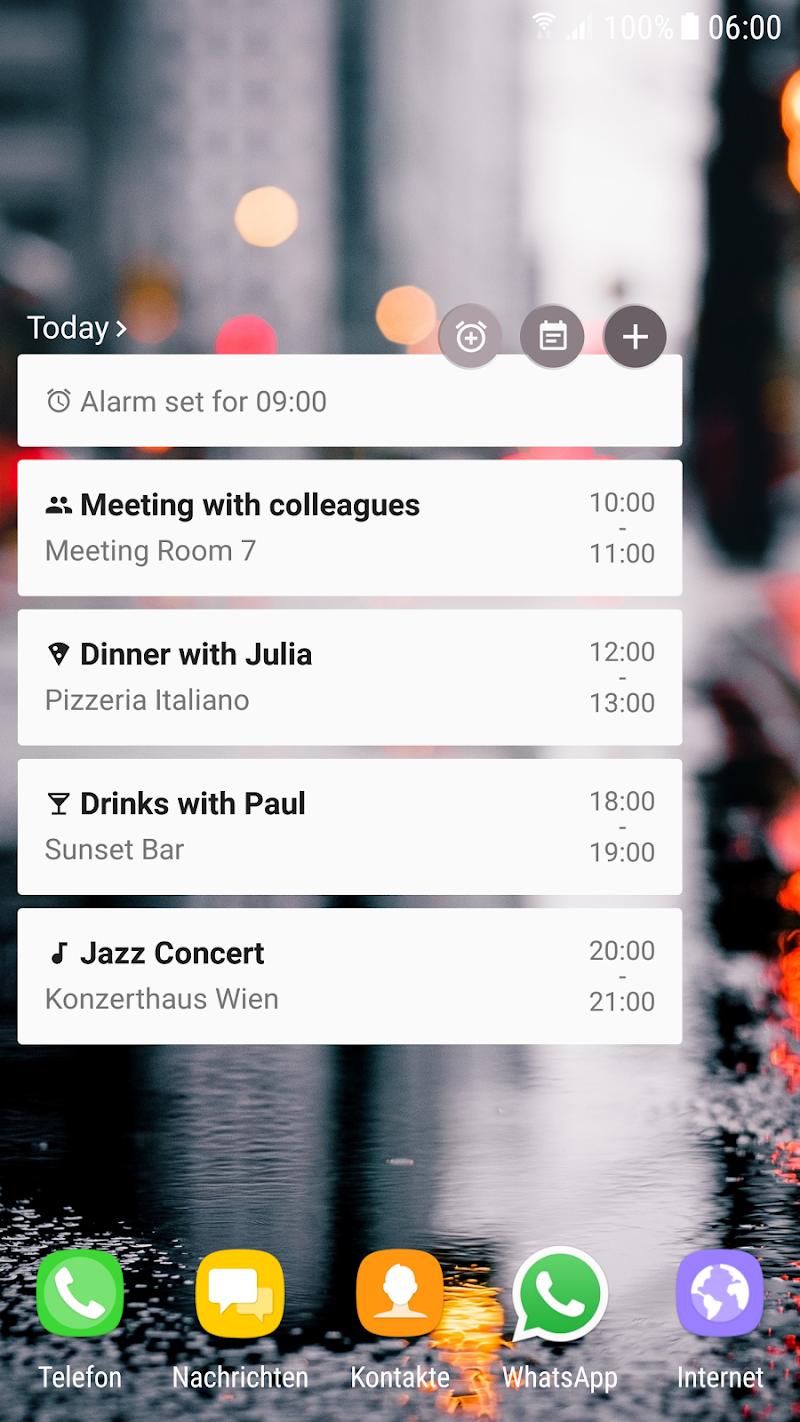 Calendar Agenda Widget (Material Design) Screenshot 4