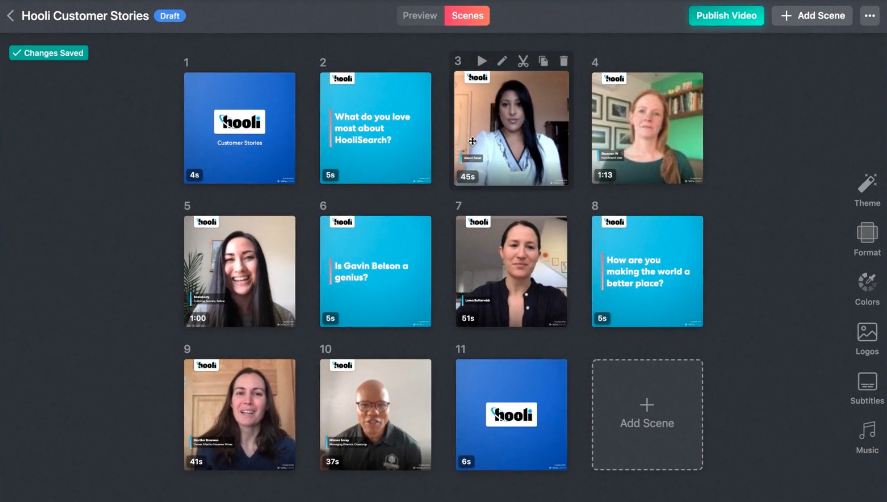 A preview of the Vocal Video platform in action.