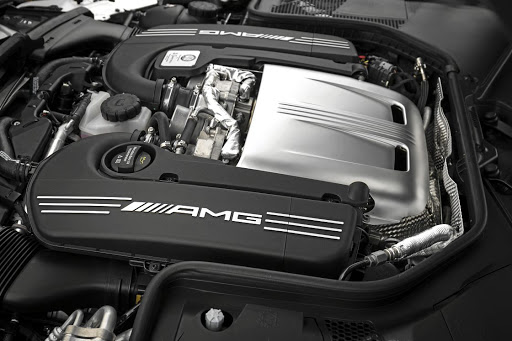 The 4.0l V8 still pushes out 350kW and 650Nm in the standard version and 375kW and 700Nm in the S models. Picture: DAIMLER