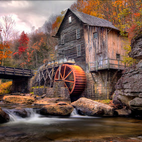 Ye Old Mill by Patrick Morgan - Landscapes Travel ( water, mill, hdr, west virginia, fine art, babcock )