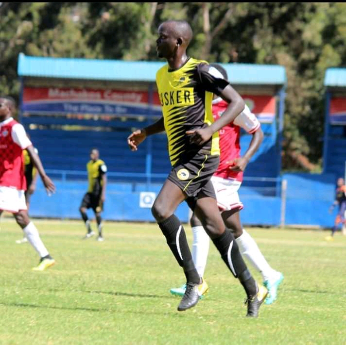 Tom Adwar in action against Western Stima while turning out for Tusker in a past Football Kenya Federation Premier League match at Kenyatta Stadium in Machakos.