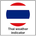 Thai weather indicator icon