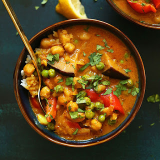 Coconut Red Curry with Chickpeas.