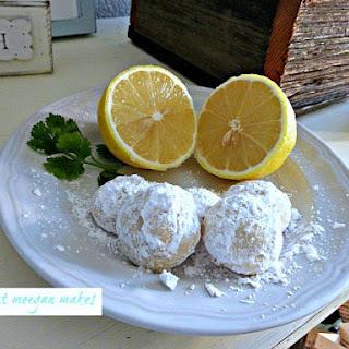 Butter Lemon Snow Drop Cookies