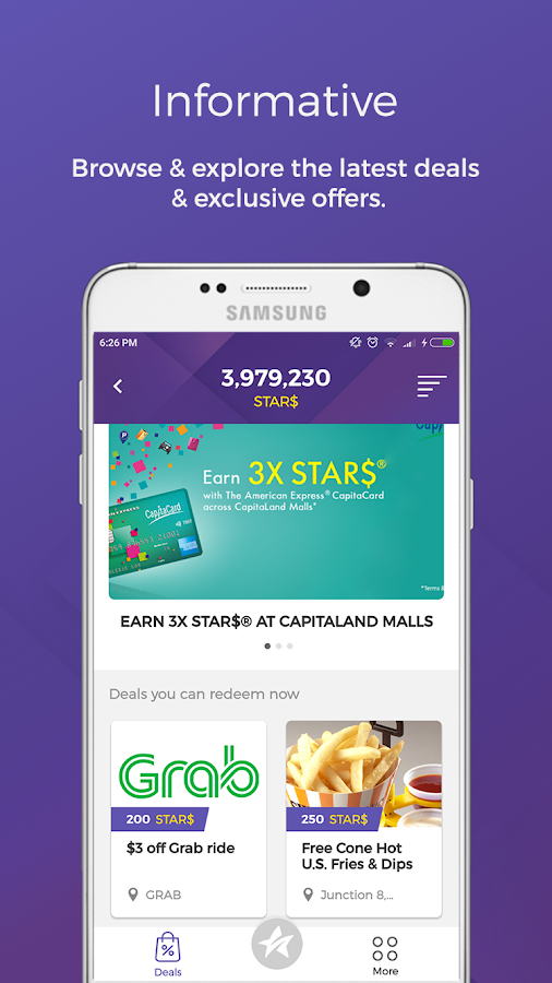 CAPITASTAR App- screenshot