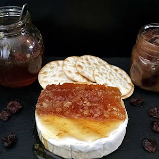 Honey Pear Conserve With Dried Cherries.