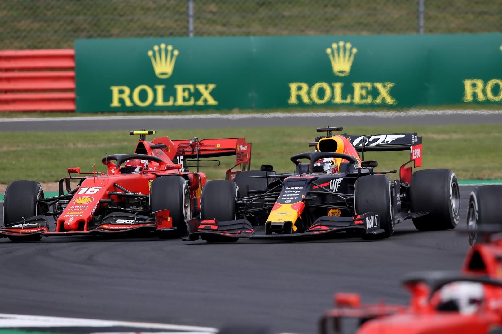 F1第10戦イギリスGP、フェルスタッペンvsルクレール