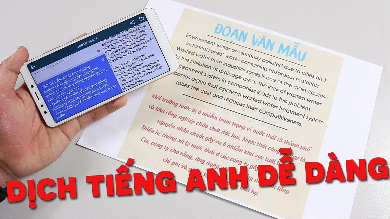 Phần mềm dịch tiếng Anh sang tiếng Việt bằng hình ảnh
