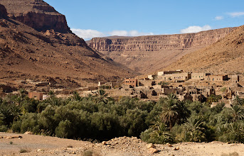 Photo: More villages on the way to Erfoud - I think this is the Ziz Canyon