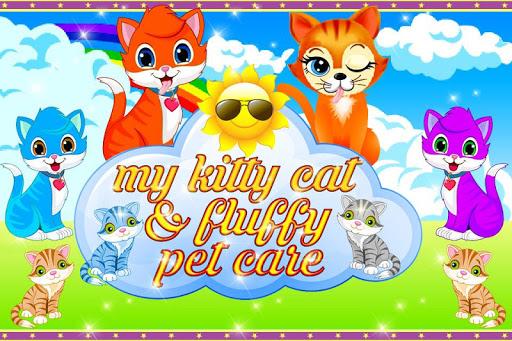 我的Kitty猫与蓬松的宠物护理