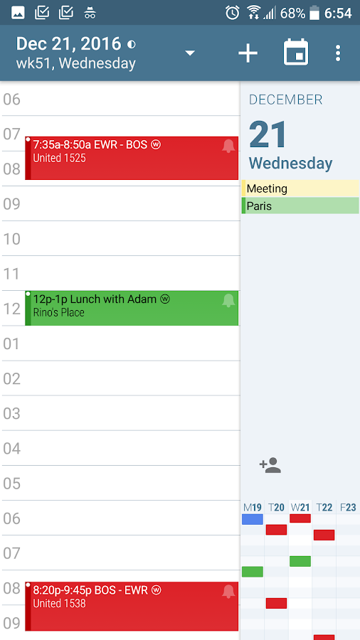 aCalendar - Android Kalender – Screenshot