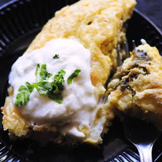 Gluten Free Baked Hatch Chiles Rellenos.