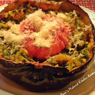 Baked Acorn Squash With Spinach