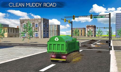 스위퍼 트럭 : 도시 도로