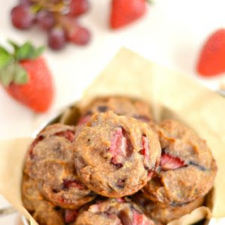 Sugar Free Strawberry Grape Muffins {GF, Low Cal, Vegan}
