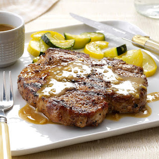 Grilled Bourbon Chops.