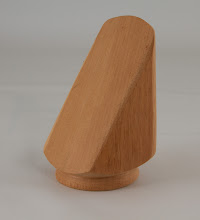 "Photo: Elliot Schantz 2 1/3"" x 4 1/2"" door stop [mahogany]"