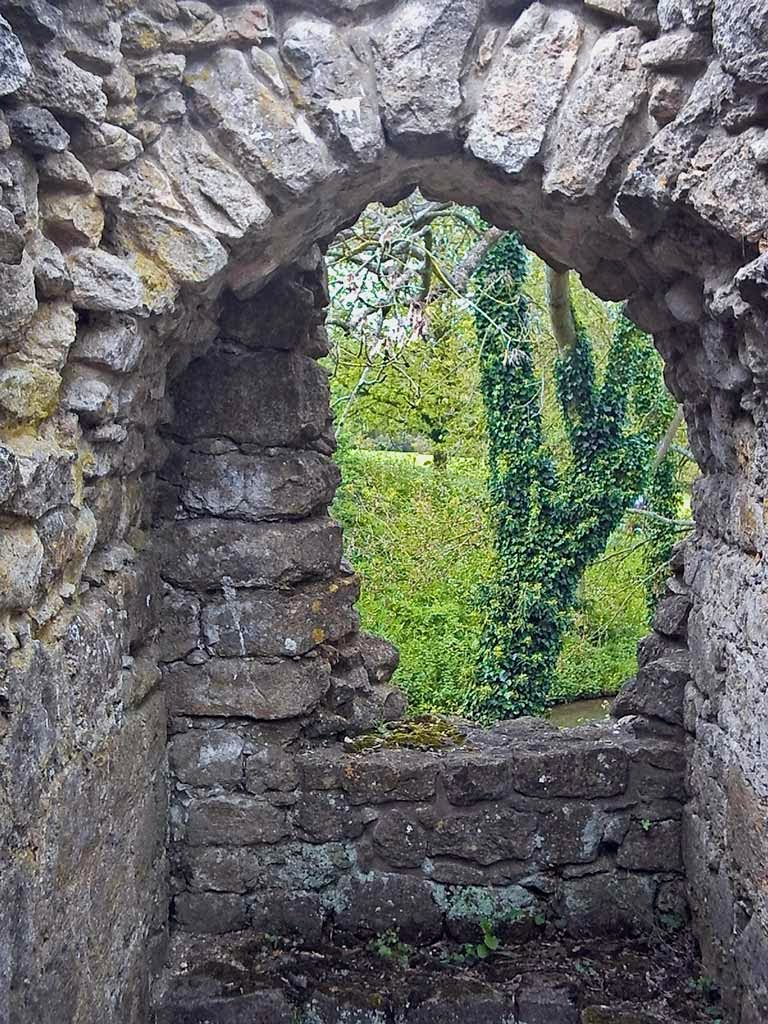 Photo: Looking out of the window from the mill ruins at Leeds Castle.
