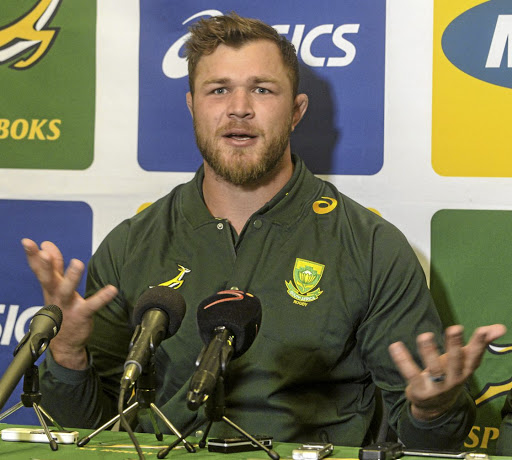 Fresh start: Duane Vermeulen says the mix of new and old players in the Springbok squad is positive. Picture: SYDNEY SESHIBEDI/GALLO IMAGES